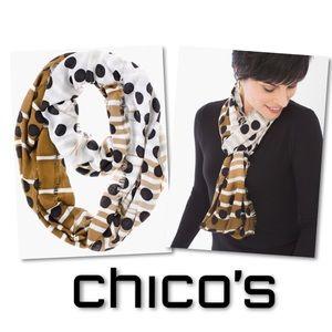 🆕 CHICO'S DOTTY INFINITY SCARF